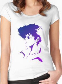 cowboy bebop spike spiegal anime manga shirt Women's Fitted Scoop T-Shirt
