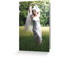 THE LONELY BRIDE SESSION VII Greeting Card