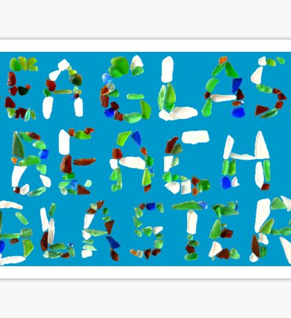 Sea Glass Beach Blaster Title Sticker