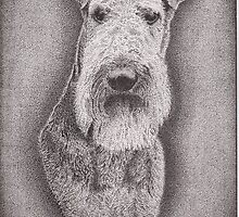 Ink Portrait Commission 3 - Airedale Terrier by RIYAZ POCKETWALA