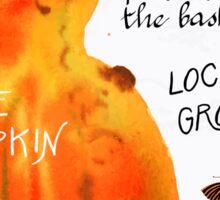 Watercolor pumpkin Sticker