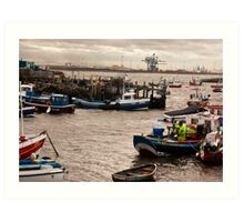 At the Mouth of the River Tees Art Print