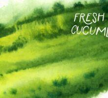 Watercolor cucumber Sticker