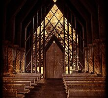 Small Wooden Chapel, Powell Gardens, Red Tone by PhotosByTrish