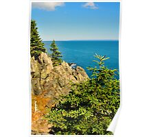 Bold Coast, Cutler, Maine Poster