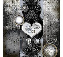Steampunk, wonderful heart  Photographic Print