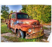 Old Tow Truck Poster