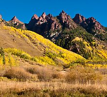 Hills Of Gold - Spikes of Granite by Greg Summers