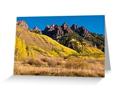 Hills Of Gold - Spikes of Granite Greeting Card