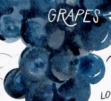 Watercolor grapes Sticker