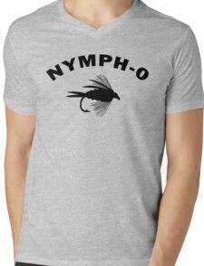 Nymph-O Mens V-Neck T-Shirt
