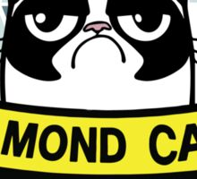 Diamond grumpy cat Sticker