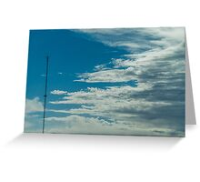 The clouds are moving in Greeting Card