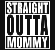 Straight Outta Mommy Funny Infant Compton Parody Kids Clothes