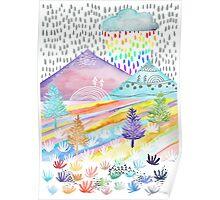Watercolour Landscape Poster