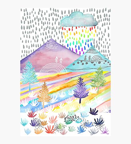 Watercolour Landscape Photographic Print