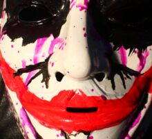 Joker mask Sticker