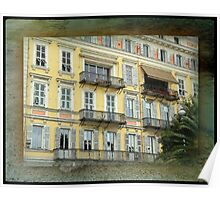 Multi-Windowed Hotel Facade - Italy  Poster