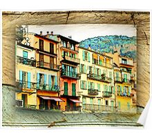 Multiple Windowed Facade - Italy Poster