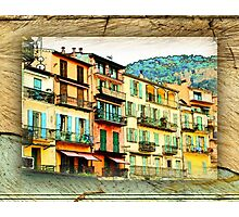 Multiple Windowed Facade - Italy Photographic Print