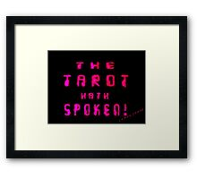 Gamer Geek Tarot Framed Print