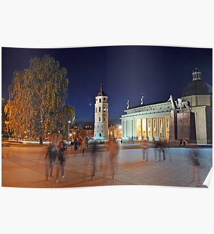 Vilnius Square Poster