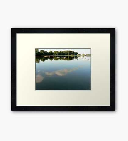 heaven earth and water.. Framed Print