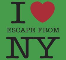 I HEART SNAKE! (Escape from New York Shirt) Kids Clothes