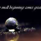 From small beginnings comes great things.  by Ella Hall