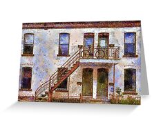 Facade - painted Greeting Card