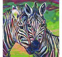 Zebras painting - 2012 Photographic Print