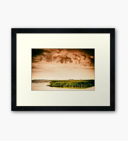 Baltic Sea beach on the island Poel Framed Print