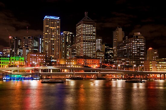 Brisbane City Night Lights by Jaxybelle
