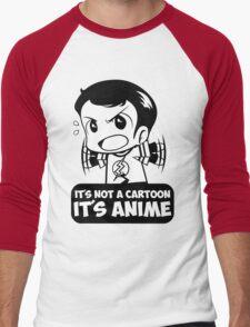 It's Not A Cartoon, It's Anime Men's Baseball ¾ T-Shirt
