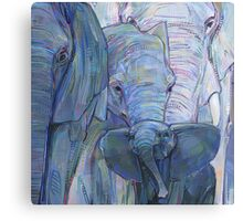 African elephants painting - 2012 Canvas Print