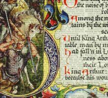 Dictionary Art - King Artur Story book,Decorative Manuscript Sticker