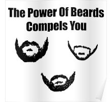 the power of beards Poster