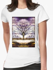 As I face the path, it opens before me Womens Fitted T-Shirt