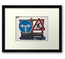 Roadworks and Detour Framed Print