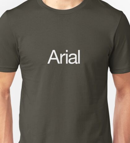 Arialvetica (white text) Unisex T-Shirt
