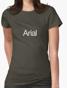 Arialvetica (white text) Womens Fitted T-Shirt
