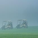 Golfer in the fog by MarcVDS