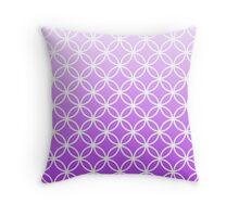 Lilac Ombre Lattice Circles Throw Pillow