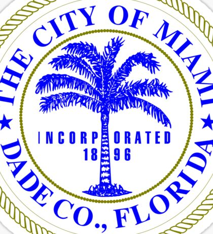 Miami City Seal Sticker Sticker