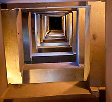 Pilgrim Tower Stairwell by phil decocco