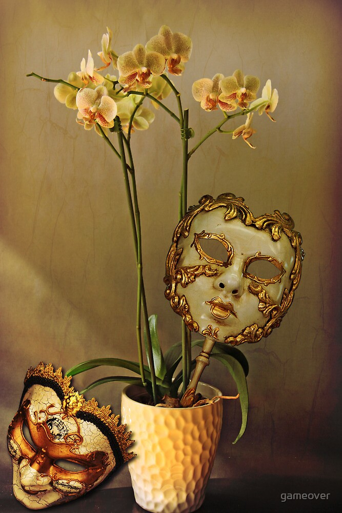 Still life with masks by Luisa Fumi