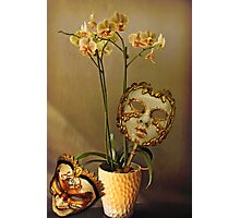 Still life with masks Photographic Print