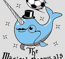The Magical Narwhals Soccer Club Logo - Light by brantfetter