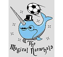 The Magical Narwhals Soccer Club Logo - Light Photographic Print