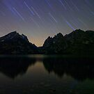 Star Trails Over The Tetons by A.M. Ruttle